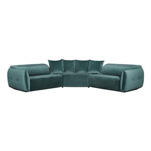 2 Power Reclining Sectional and Recliner Set
