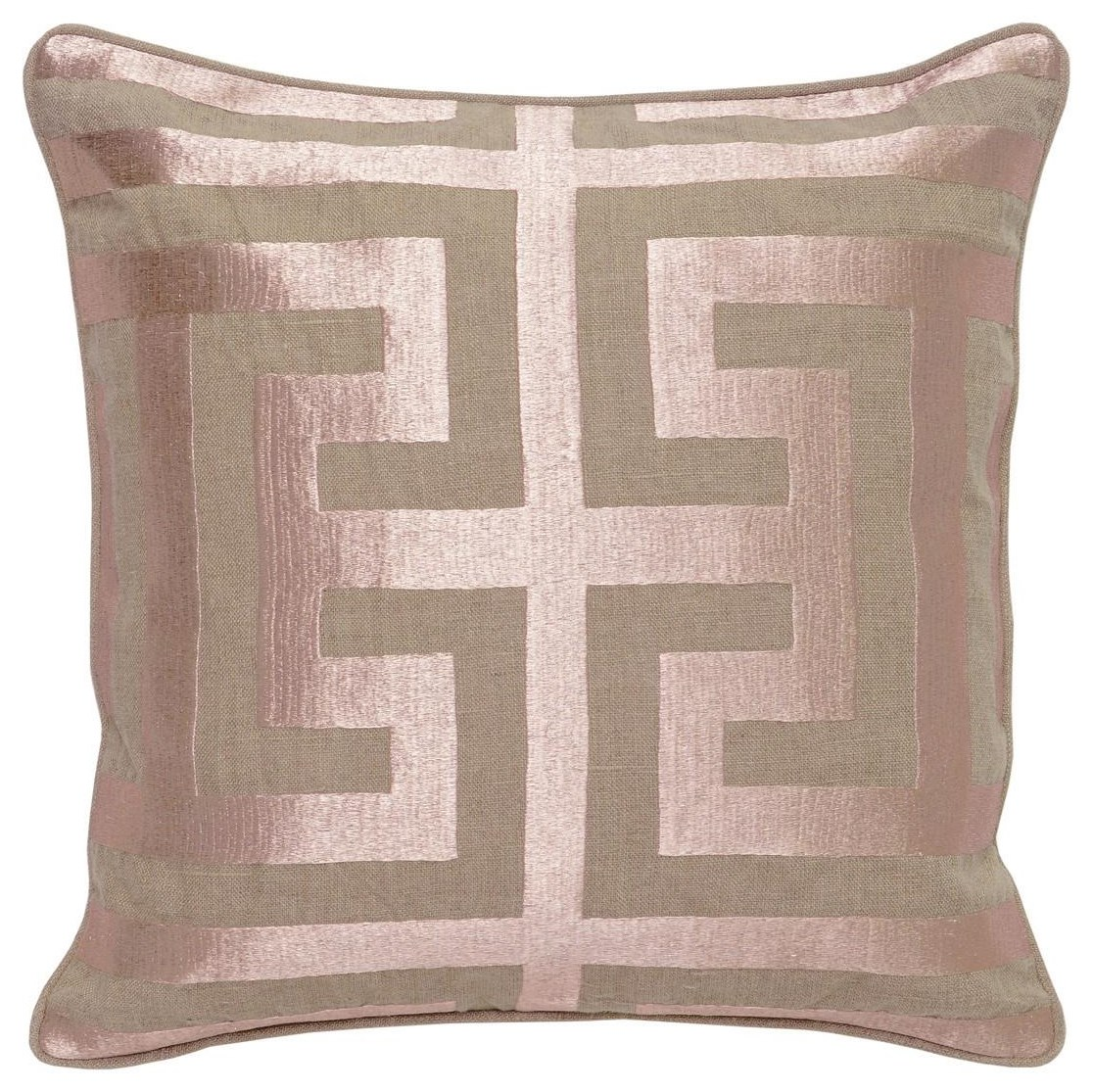 Rose Gold Square Accent Pillow