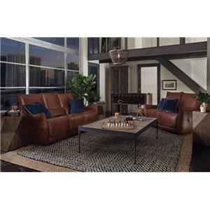 2 Piece Power Reclining Sofa and Reclining Loveseat Set