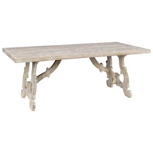 Rectangular Transitional Solid Wood Dining Table