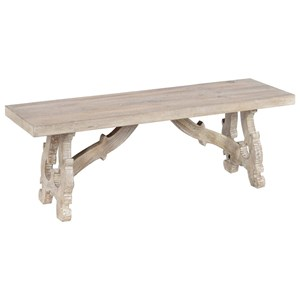 """50"""" Transitional Solid Wood Dining Bench"""