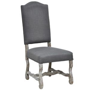 Transitional Arm Chair with Hand Tied Seat Construction.