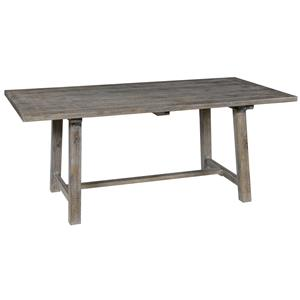 Pine Dining Table with Trestle Base