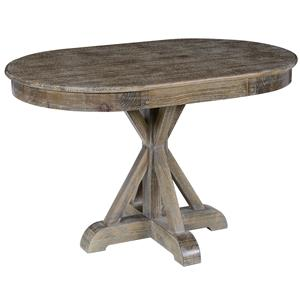 Pine Dining Table with Single Pedestal Base