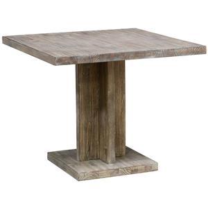Rectangular Single Pedestal Dining Table