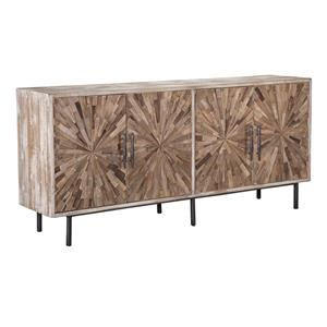 4 Door Starburst Reclaimed Pine Sideboard