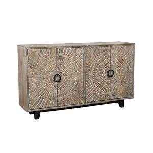 4 Door Hand Carved Mango Wood Sideboard