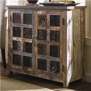 Classic Home Vintage Vintage Print Block Cabinet