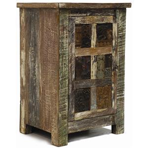 Classic Home Vintage Vintage Print Block 1 Door Nightstand