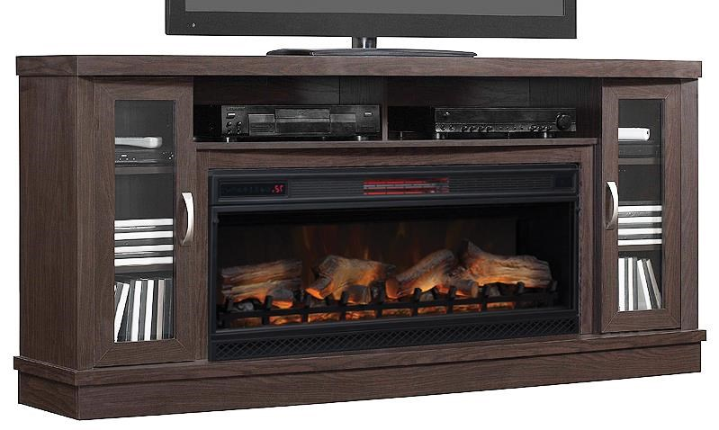 Hutchinson Collection Fireplace media console by ClassicFlame at Darvin Furniture