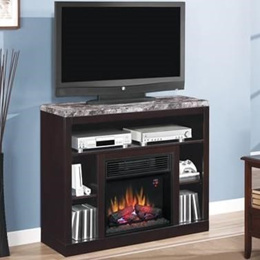 Adams Media Mantel Fireplace by ClassicFlame at Value City Furniture