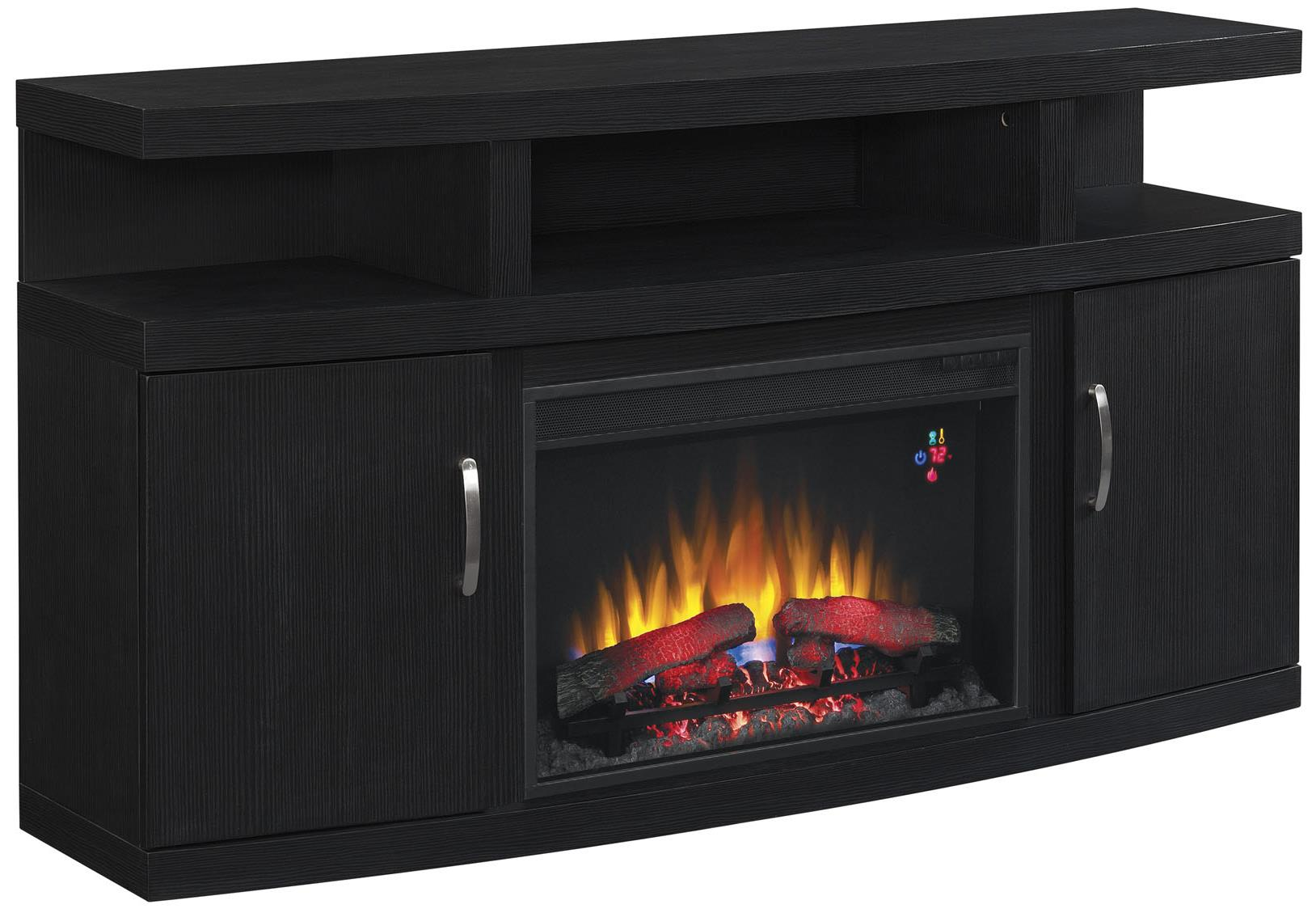 Cantilever Media Mantle by ClassicFlame at Darvin Furniture