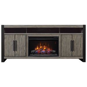 Media Mantel TV Stand with Electric Fireplace Insert