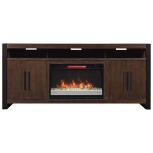 "72"" Media Mantel w/ Fireplace Insert"