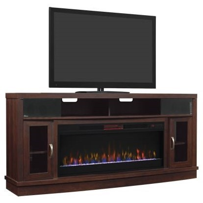 Media Mantel Fireplace With Speakers at Sadler's Home Furnishings