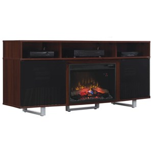 """72"""" Media Mantel with Wire Access Holes"""