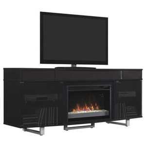 "Media Mantel with Sound Bar and 26"" Fireplace Insert"