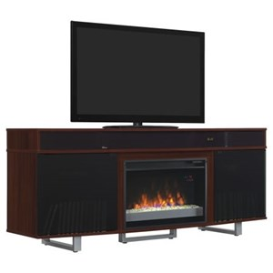 "72"" Fireplace Media Mantel with Bluetooth Sound Bar"