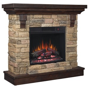 "23"" Wall Mantel Electric Fireplace"