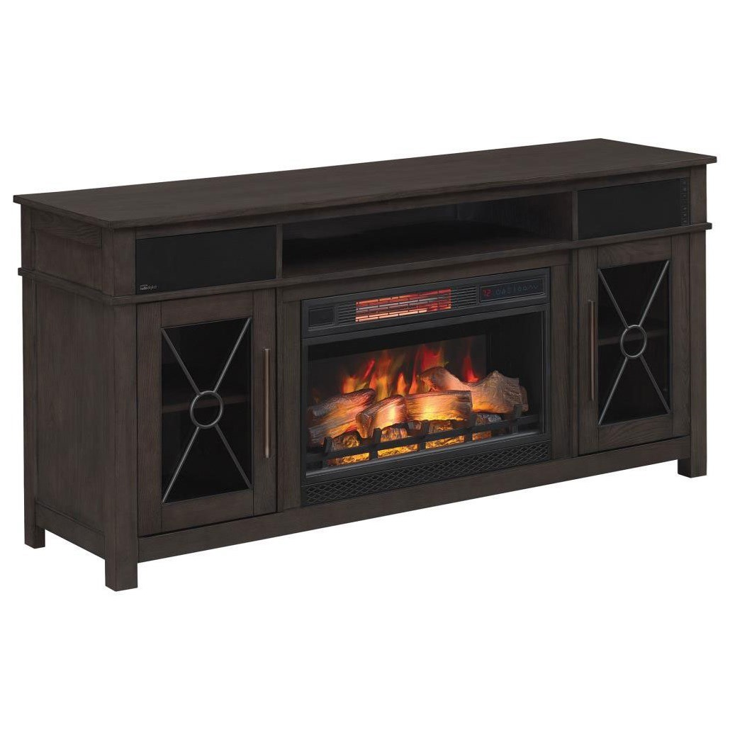 Heathrow Media Mantel Fireplace by ClassicFlame at Darvin Furniture