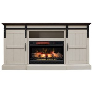 Barn Door Media Mantel Fireplace