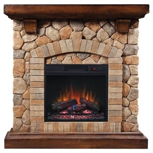 "40"" Wall Mantel and 18"" Electric Insert"