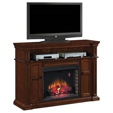 Wyatt Fireplace TV Console Mantel & Insert at Sadler's Home Furnishings