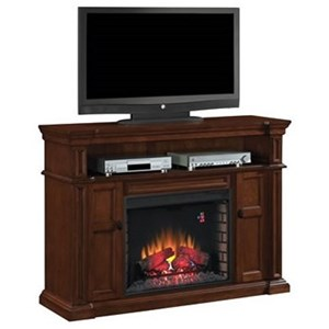 Fireplace TV Console Mantel & Fireplace Insert with Storage.