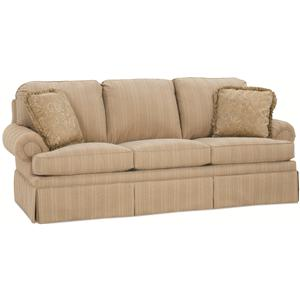 """Clayton Marcus 3189 87"""" Semi-Attached Back Traditional Sofa"""