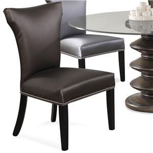 CMI Parson Chairs Parson Chair With Wood Legs