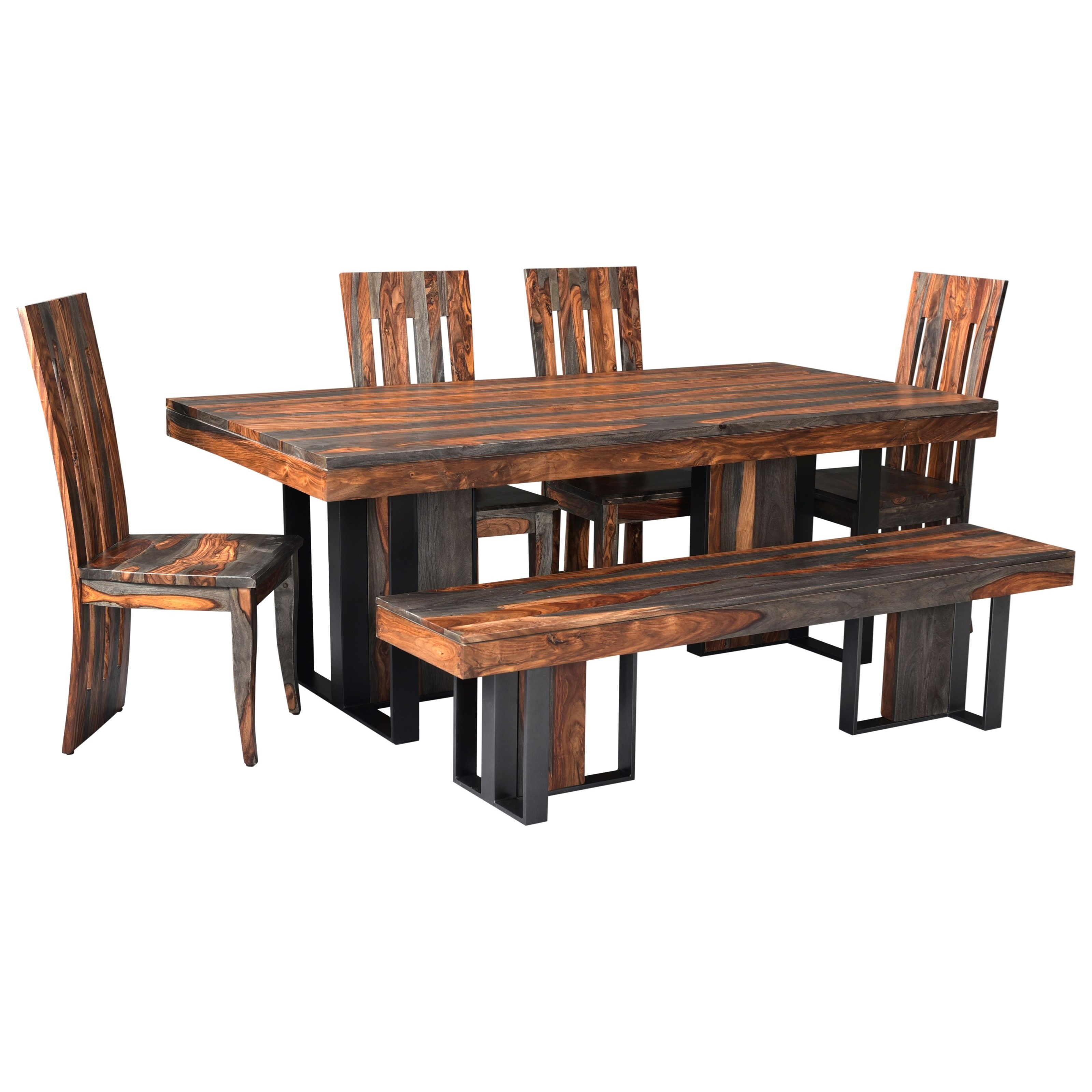 Sierra Table and Chair Set with Bench by Coast to Coast Imports at Corner Furniture