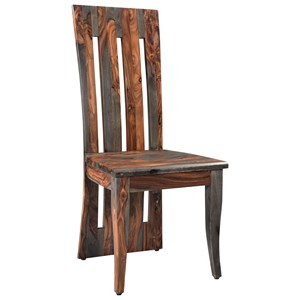 Rustic Slat-Back Side Chair
