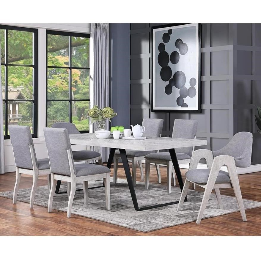 Aspen Court II 7-Piece Table and Chair Set by Coast to Coast Imports at Zak's Home