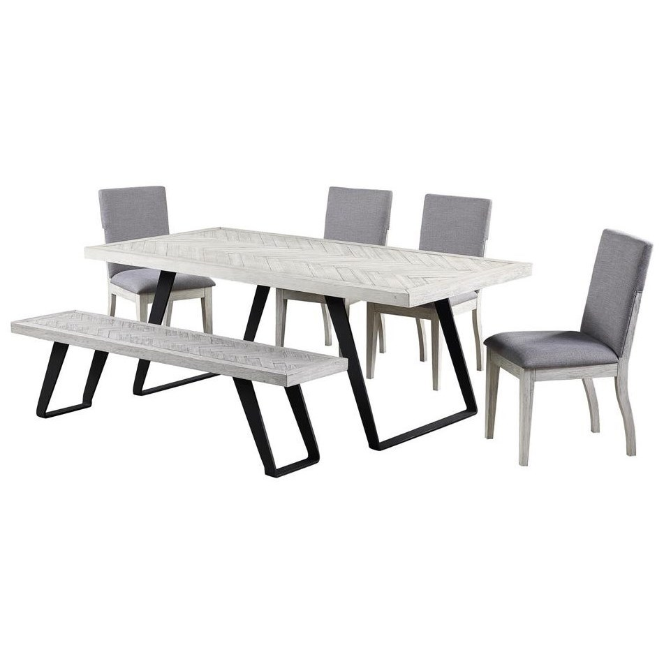 Aspen Court II 6-Piece Table and Chair Set with Bench at Williams & Kay