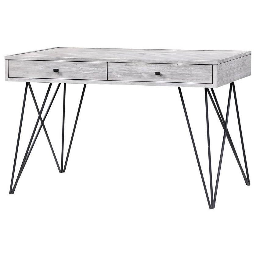 Aspen Court II Two Drawer Writing Desk by C2C at Walker's Furniture