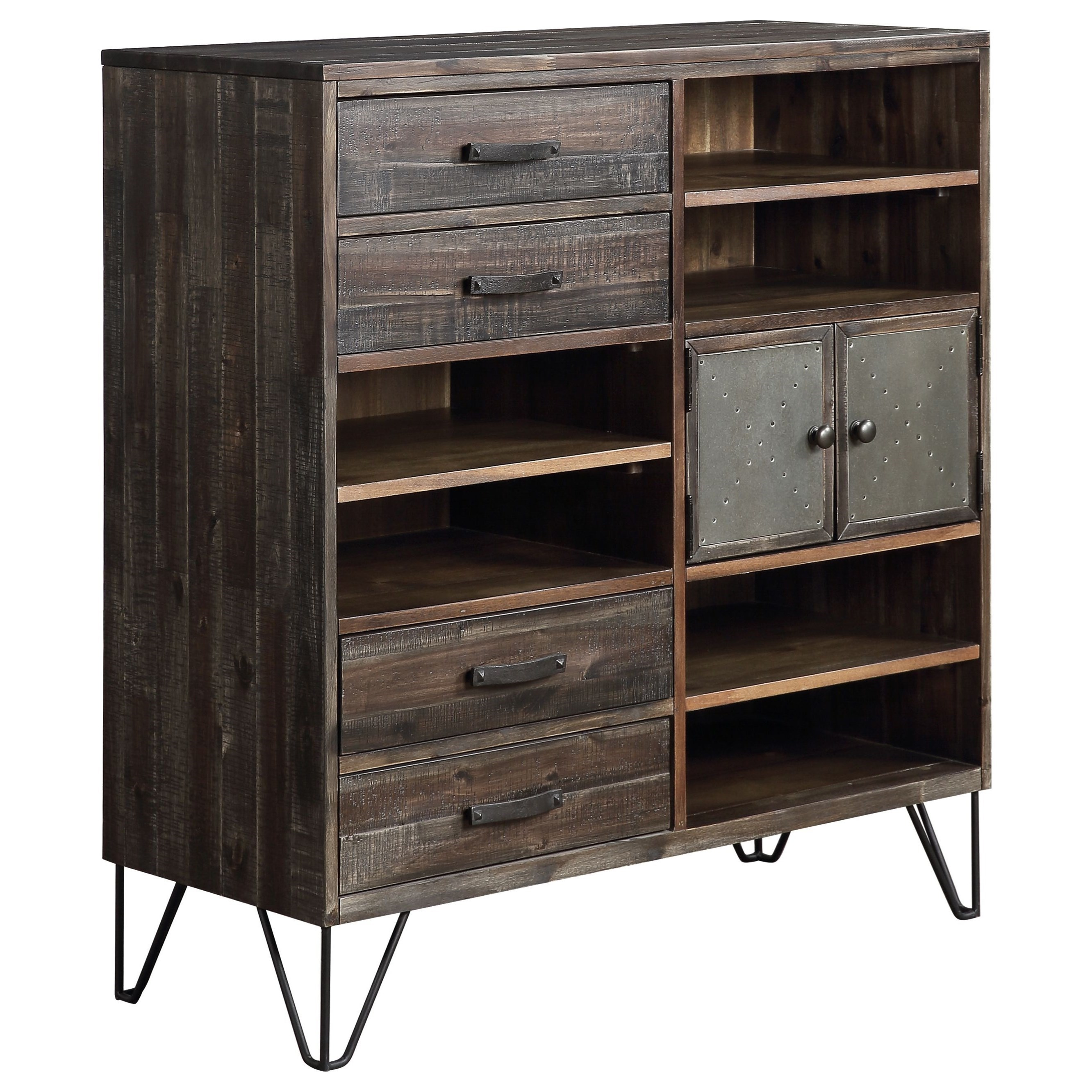 Aspen Court Vintage 4-Drawer, 2-Door Server by Coast to Coast Imports at Zak's Home