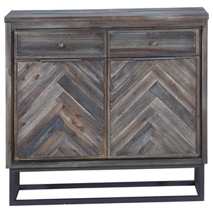Industrial Two Door Two Drawer Accent Cabinet