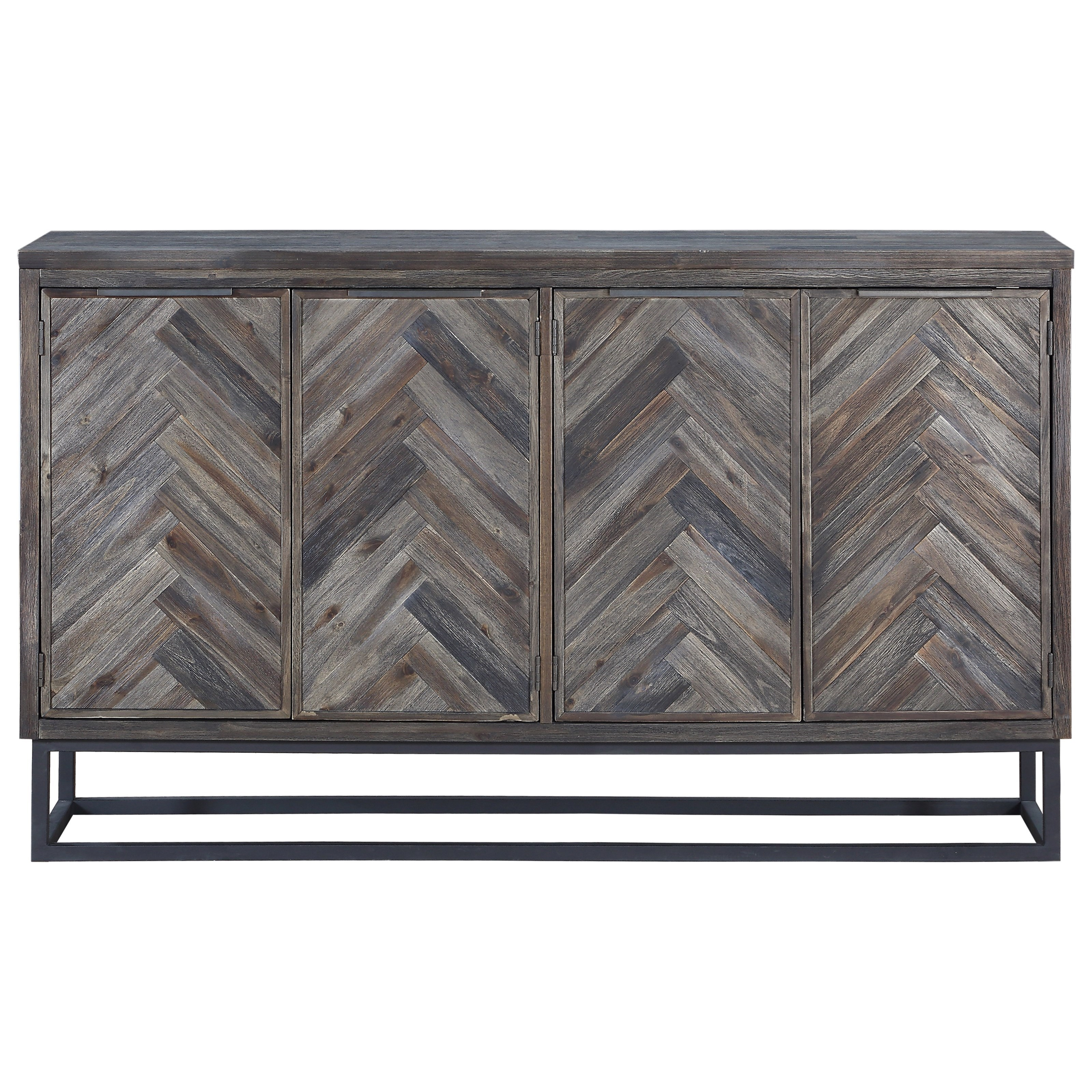 Aspen Court Four Door Media Credenza by C2C at Walker's Furniture