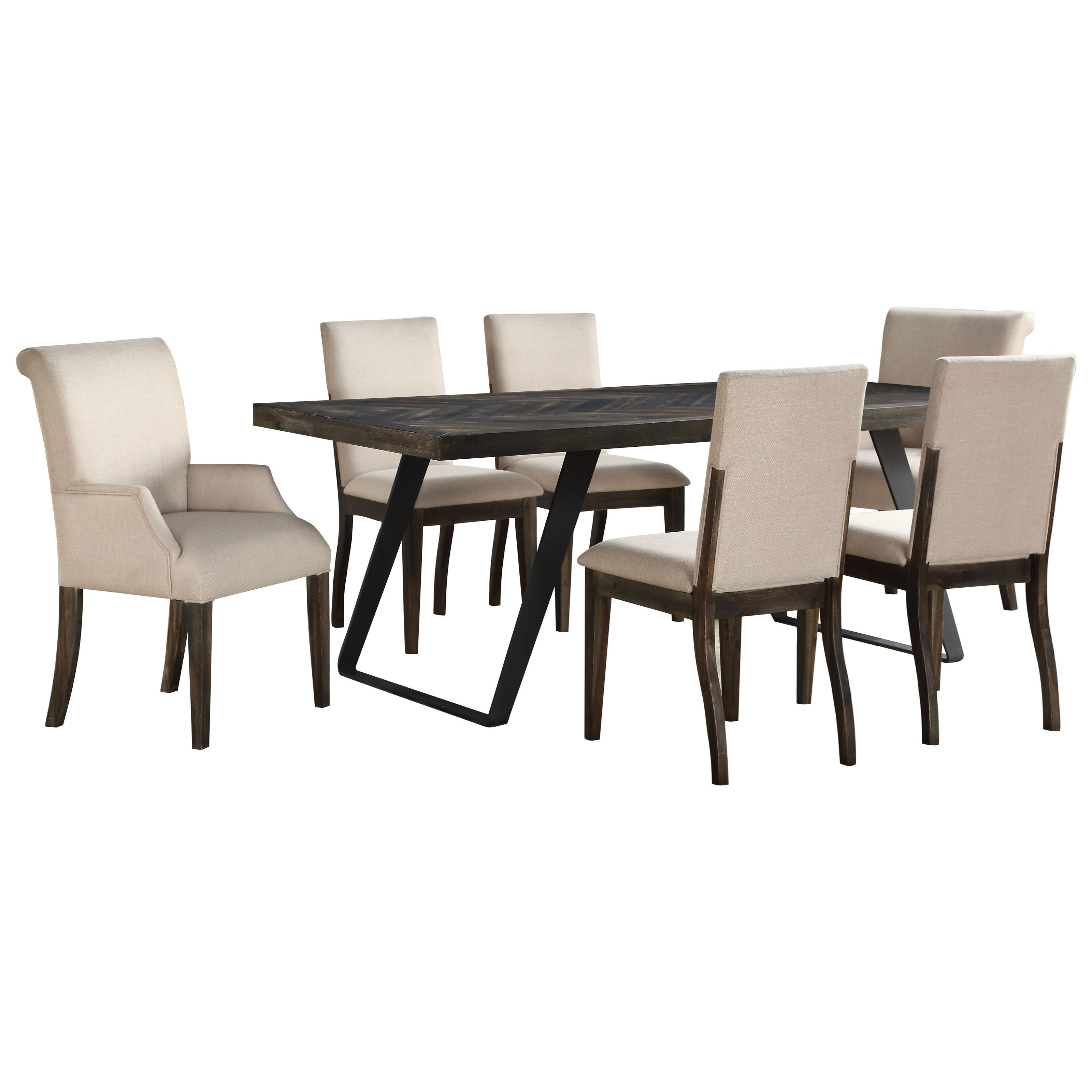 Aspen Court 7-Piece Table and Chair Set by Coast to Coast Imports at Baer's Furniture