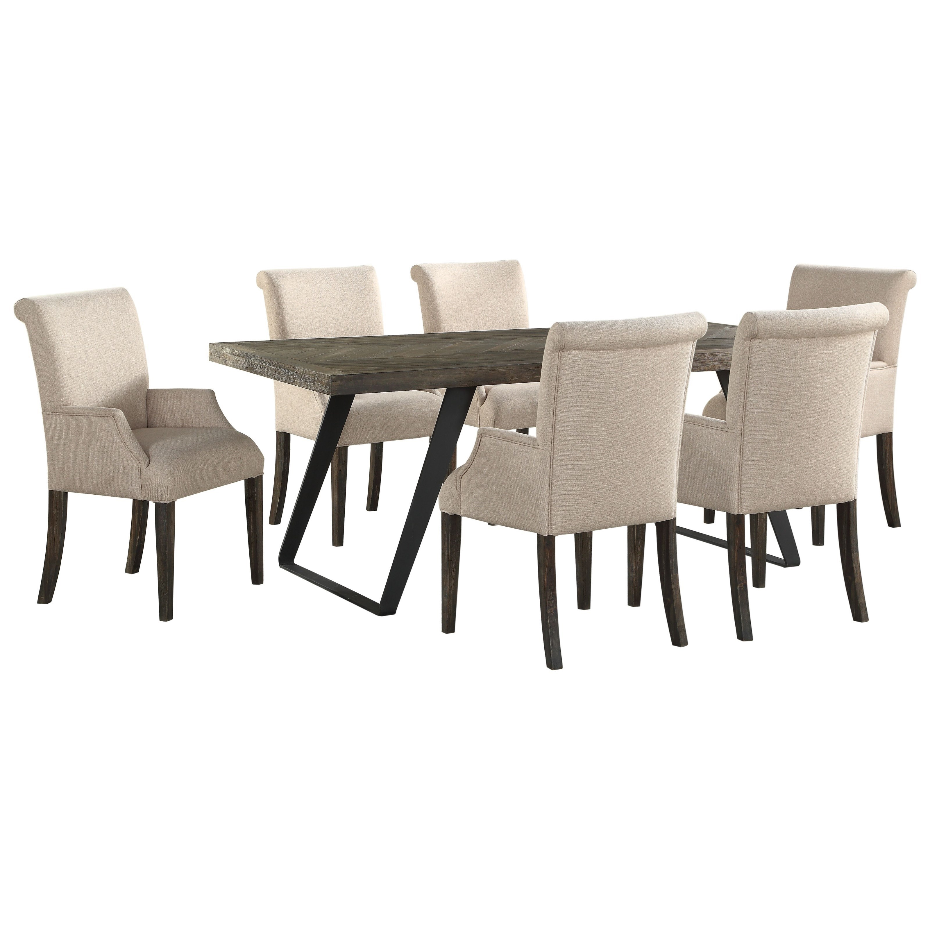 Aspen Court 7-Piece Table and Chair Set by C2C at Walker's Furniture