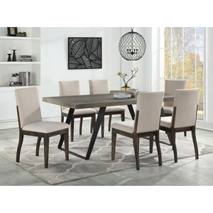 Contemporary 7-Piece Dining Table and Side Chair Set