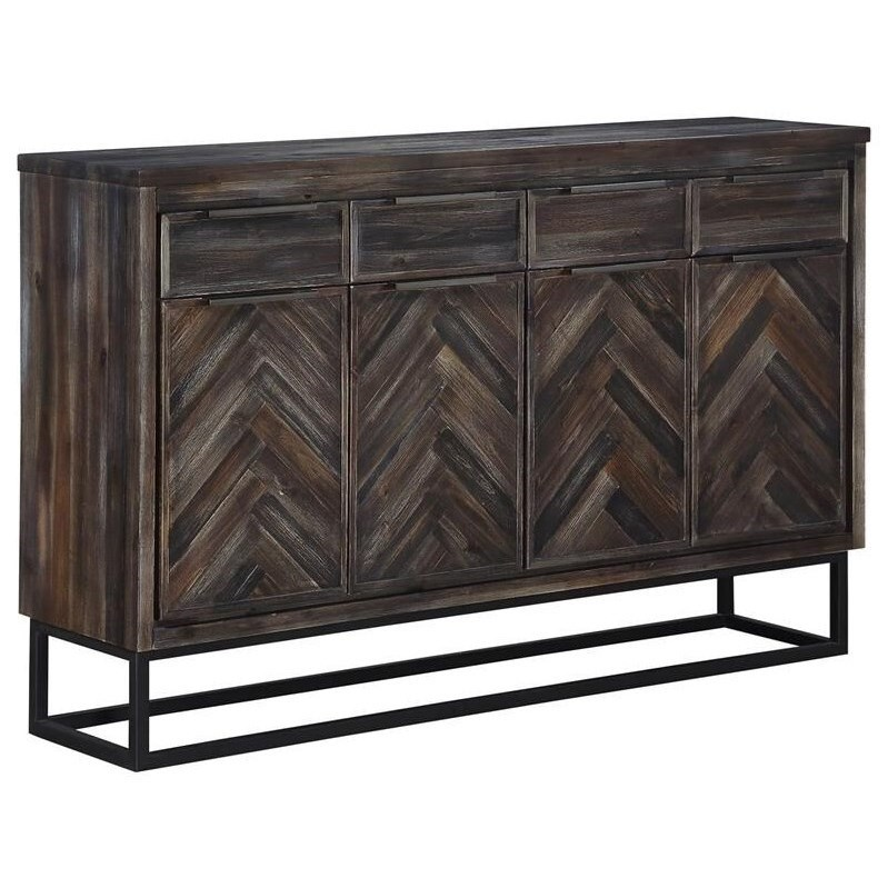 Aspen Court Denver Four Door Media Credenza at Morris Home