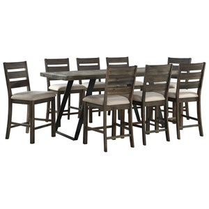 9-Piece Counter Height Table and Chair Set