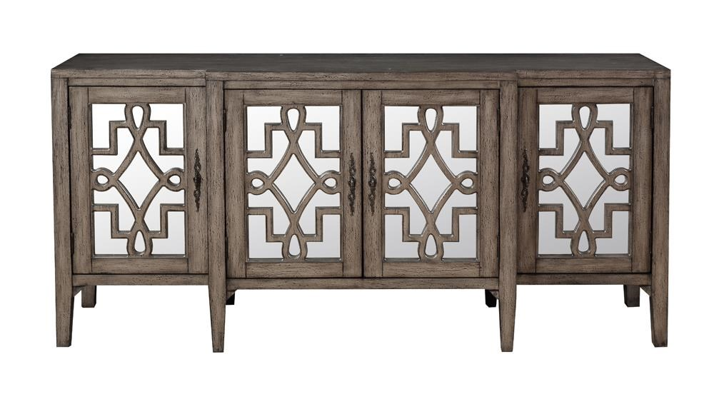 Accents 4 Door Credenza by Coast to Coast Imports at Baer's Furniture