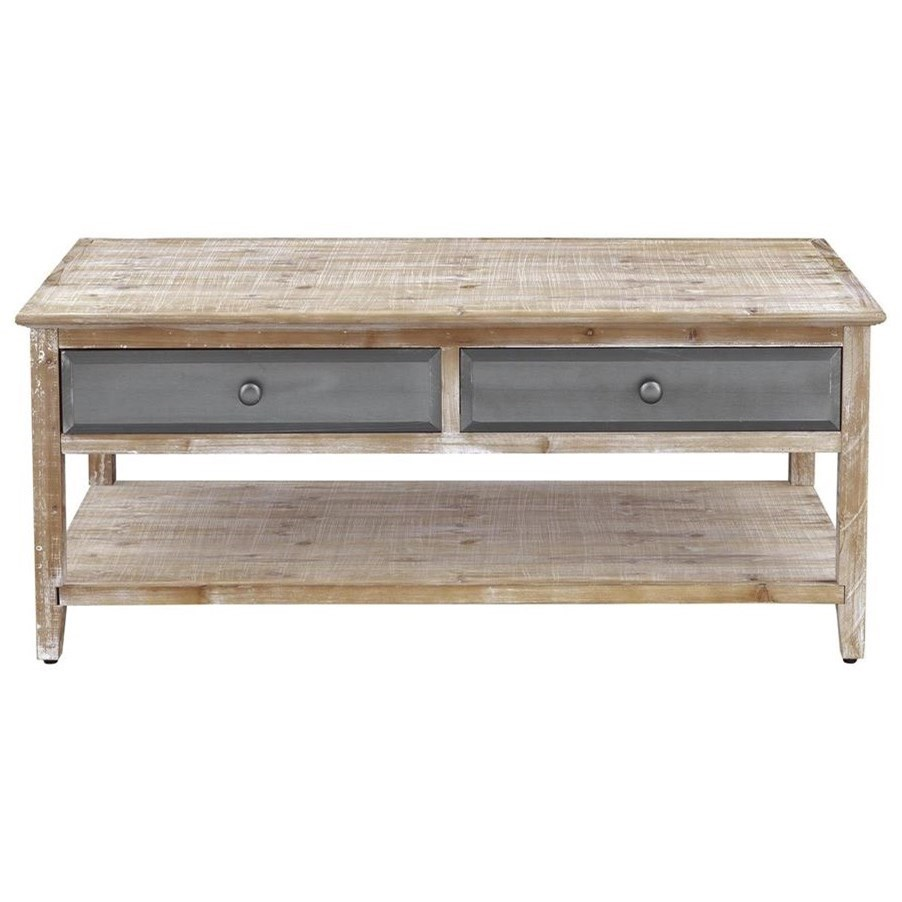 Bali Four Drawer Cocktail Table by C2C at Walker's Furniture