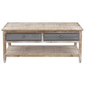 Four Drawer Cocktail Table