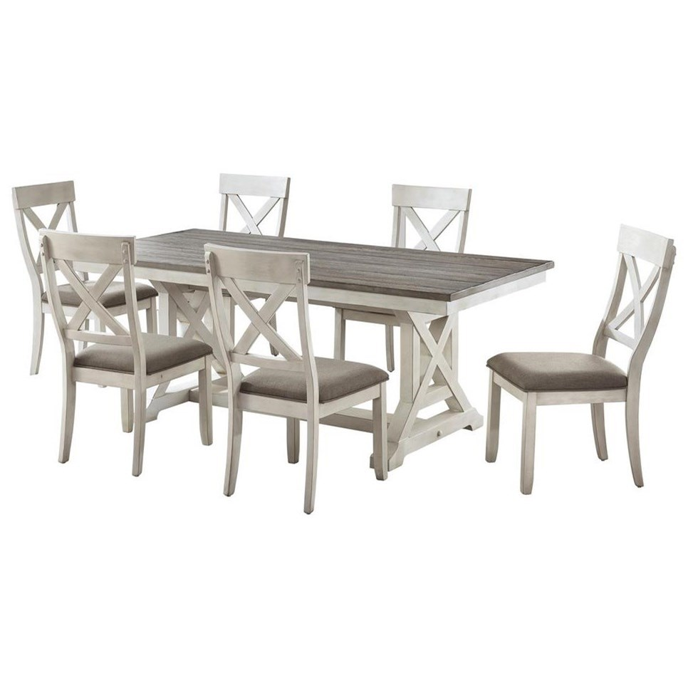 Bar Harbor II 7-Piece Table and Chair Set by Coast to Coast Imports at Johnny Janosik