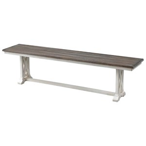 Farmhouse Style Two-Tone Dining Bench