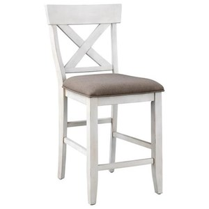 Farmhouse Style Counter Height Dining Chair
