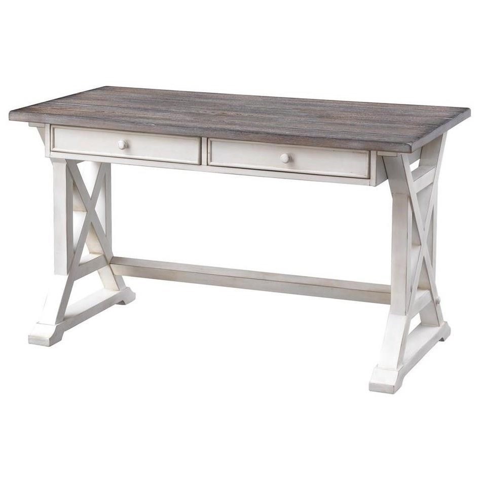 Bar Harbor II Two Drawer Writing Desk by C2C at Walker's Furniture